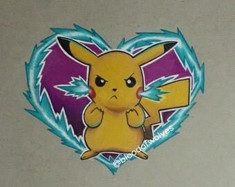 Pikachu used thundershock!