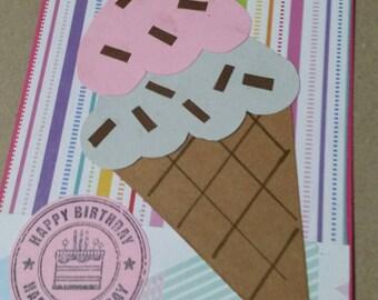 Handmade IceCream Cone Birthday Card