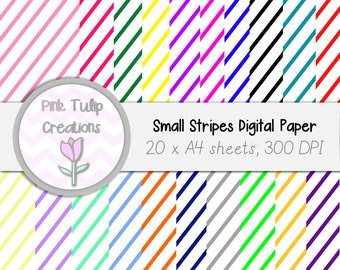 A4 Clip Art Backgrounds- Colored stripes x 20