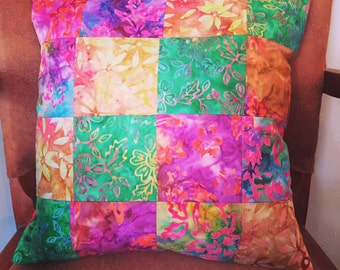 Handmade Patchwork Cushion - Kaffe Fassett fabric