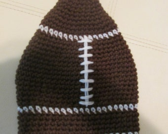 Youth Crocheted Football hat.