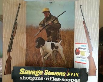 Savage Stevens Fox 1964 100th Anniversary Counter Top Advertisement