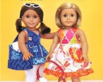"""ModKid - Mini Naomi - Paper Sewing Pattern for 18"""" Dolls Beach Dress"""