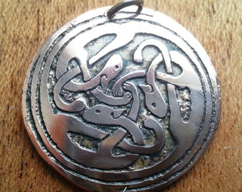 Pendant with Celtic cats