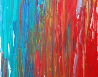 """Emotions original acrylic painting on canvas by Minnie Yeh, 36"""" x 24"""", abstract, portion of proceed to support Dyslexia at Understood.org."""