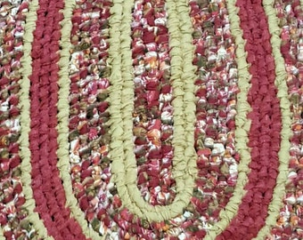 Shabby Chic Handmade Toothbrush Rag Rug Kitchen/Bathroom/Handmade/Recycled/Area rug/Shabby chic/Cottage chic