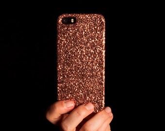 Glitter iPhone Case for iPhone 4/4S, 5/5S, SE, 6/6S & 6/6S Plus - Copper