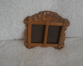 Fretwork double picture frame  1930's style