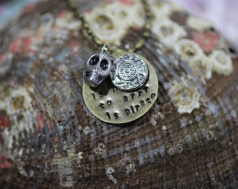 To ARRR is Pirate! Hand-stamped Necklace