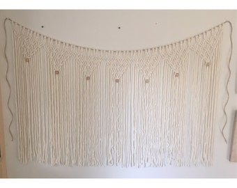 yarn macrame wall hanging | bohemian | nursery decor | wedding decor | macrame curtain