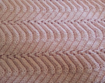 Rippling Waves Knitted Baby Blanket