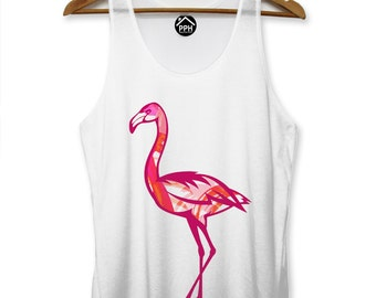 Flamingo Abstract Summer Vest Hipster Singlet Bird Paradise Sleeveless Tank PP94