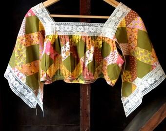 Butterfly Sleeve Crop Top