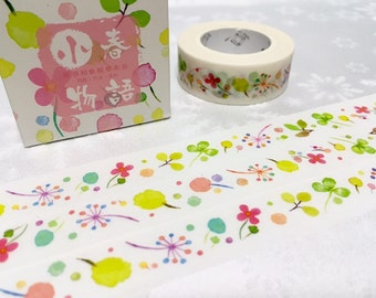 10M baby flower Washi Masking Tape Garden leaves baby leaf Green garden deco sticker tape gardening diary planner tape decor gift wrapping