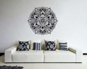 Art mural mandala etsy for Decoration murale mandala