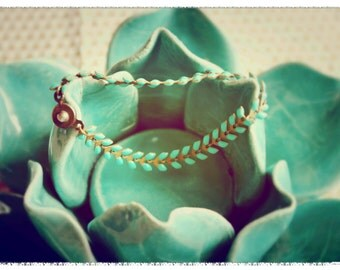 Herringbone chain bracelet