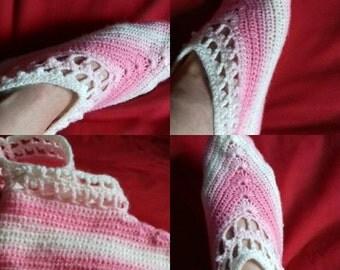 Hand crochet super soft ladies slippers