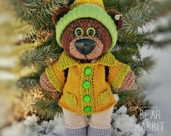 "Knitted bear ""Geologist"""