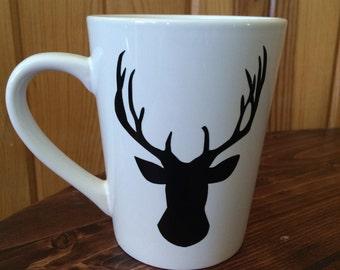 Buck Deer Coffee Mug - Personalized - Custom Coffee Mug - Hunting - Archery - Hunting Season - Mule Deer - Hunting Dad