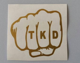 TAEKWONDO Tae Kwon Do TKD Vinyl Car Window Decal Free Shipping Martial Arts Yeti Laptop Sticker Wine Glass Beer Mug Frame Sport Bottle