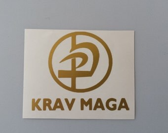 KRAV MAGA Vinyl Decal .. Free Shipping .. Window Car Sticker Laptop Wine Glass Beer Mug Frame Sports Bottle Organizer