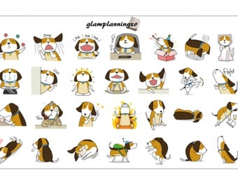 Funny dogs large deco sheet