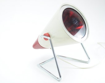 Charlotte Perriand Philips infraphil lamp / Cool vintage heat lamp / Design 60s Holland