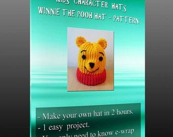 Kids character hats - Winnie The Pooh pattern