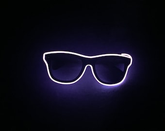 Pink Neon Glasses