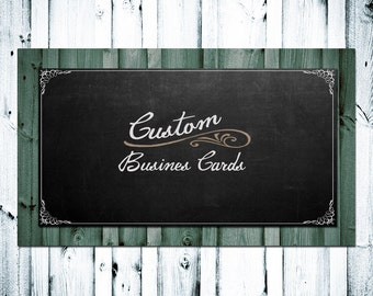 Custom Business Cards 500 Business Cards Customized with Your Shop Name and Information, You Can Use Premade Image or New Custom Image