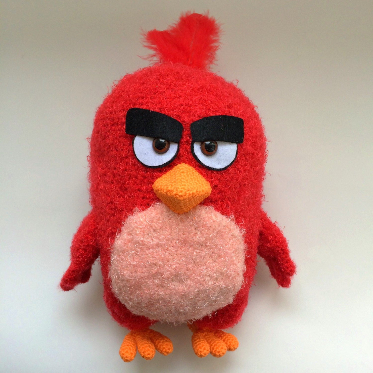 Red By Angry birds PDF CROCHET PATTERN Instant Download