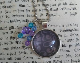 Necklace pendant purple ornament