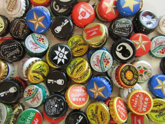 Items similar to beer bottle cap magnets craft beer - Beer bottle caps recyclable ...