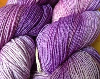 Purple Pygmy Puff - Hand dyed, Sock Yarn - READY TO SHIP