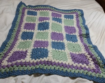 Crochet Multi Colored Crib Blanket