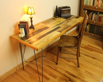 Industrial Reclaimed Wood Desk
