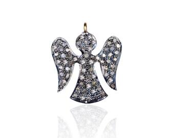 SDC-1012 Angel-Pave diamond charm