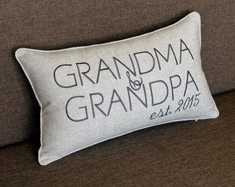 Grand Parents Pillow Cases, Birthday Pillow Cases, Decorative Pillow Cover