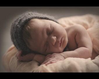 Newborn ribbed bonnet
