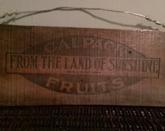Vintage distressed wood sign