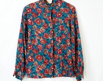 Pendleton Rose Printed Blouse