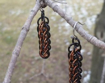 Persian Weave Chainmaille Earrings