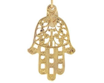 Gold plated Hamsa Hand
