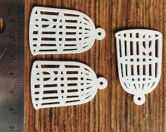 Wood bird cage [6 pieces]
