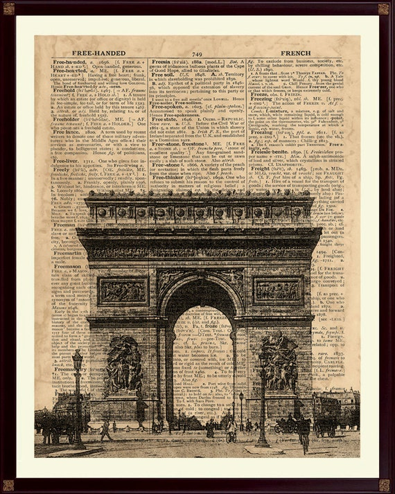 Arc de triomphe print paris print french decor french wall for Arc de triomphe wall mural