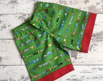 Boys Shorts, Car and Truck Cotton Print, 0-6 years
