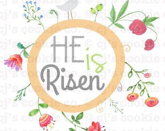 He is Risen Printable Easter Tag