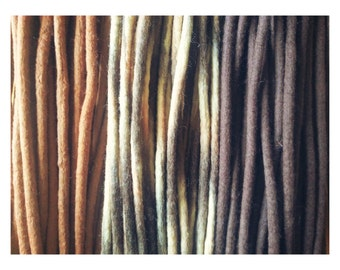 "40 DE wooldreads ""Natural brown mix"""