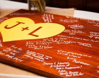 Wedding Wood Plank Guest Book