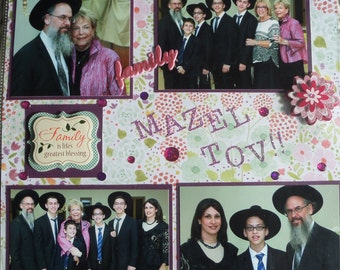 SCRAPBOOK CUSTOM, Bar Mitzvah! Reduced price!!  12x12 album Bar Mitzvah album. Your pictures!  Great gift!  Keep wonderful memories!